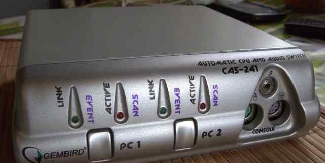 Gembird CPU switch CAS-241