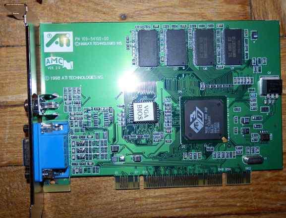 ATI 3D Rage LT PRO AGP PCI 8mb tvout