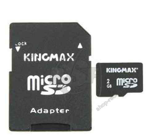 Карта памяти Kingmax microSD 2Gb + SD adapter