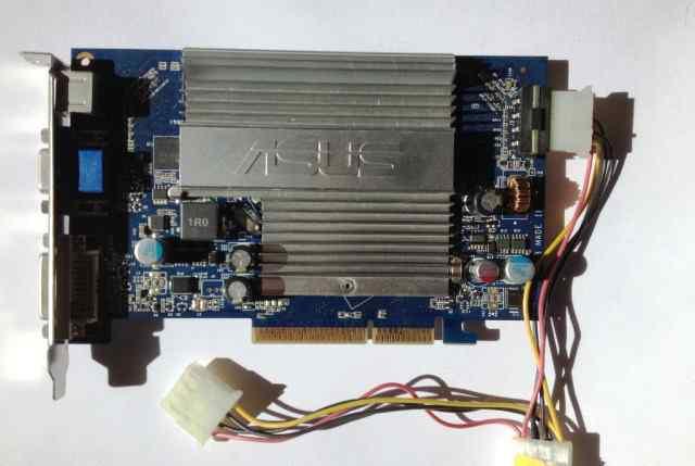Видеокарта AGP asus N7600GS silent/HTD/256M