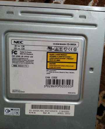 CD-RW привод NEC