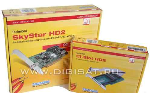 спутниковую карту SkyStar HD2 + CI модуль