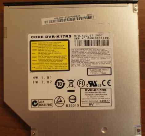 DVD-RW IDE для ноутбука Pioneer DVR-K17RS