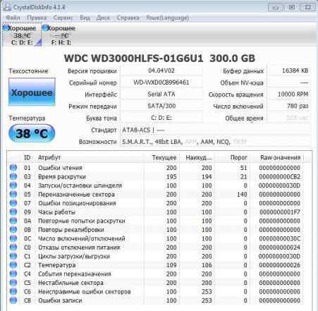 WD VelociRaptor WD3000hlfs 300GB
