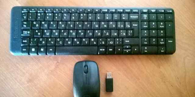 Клавиатура + мышь Logitech K220