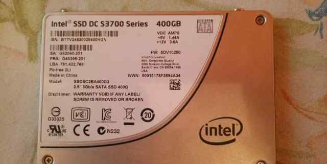 Intel SSD DC S3700 400gb MLC