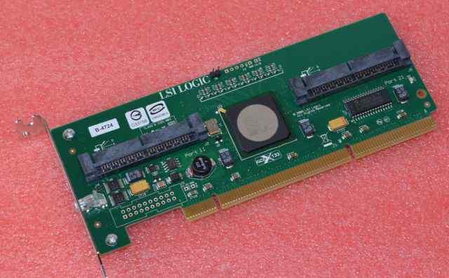 LSI Logic SAS3080X-HP 8 Port SAS raid Low Profile