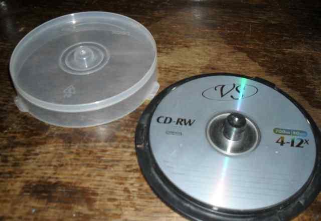 CD-RW - диски в коробке 4 шт. VS