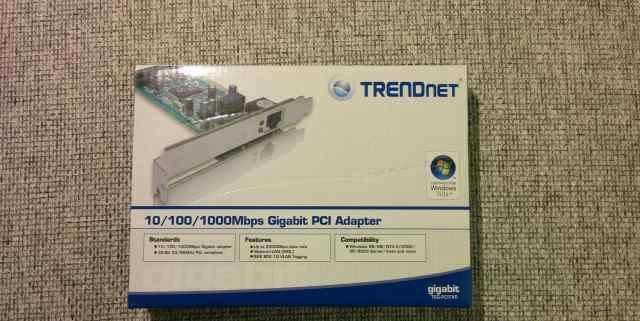 Сетевой контроллер trendnet TEG-pcitxr