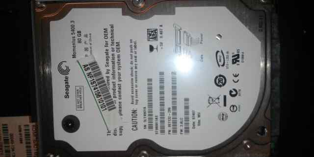 Жесткий диск для ноутбука Segate - 80 Gb
