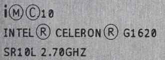 Процессор intel Celeron G1620 LGA 1155 OEM 2.7 ггц