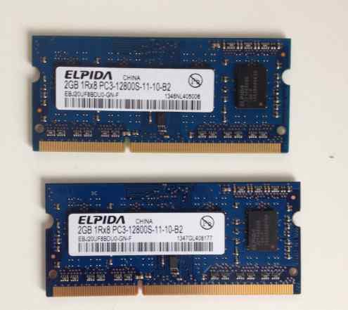 Оперативная память DDR3 elpida 4GB 1Rx8 PC3-12800S