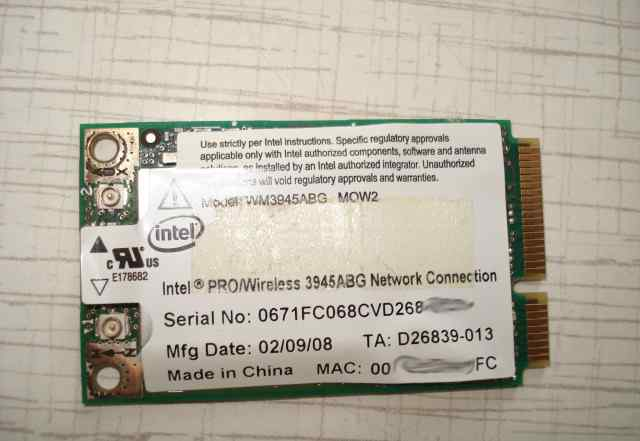 Intel 3945abg mini pci-e wi-fi адаптер