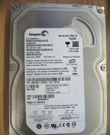 Жесткий диск Seagate, 80 GB