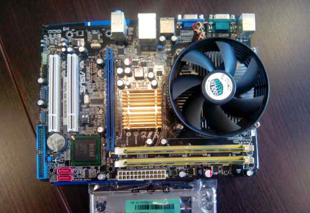 Core Duo E5200 s775 + asus P5KPL-A + 2Gb