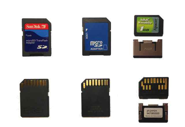 MMC Mobile 1GB и 2 переходника