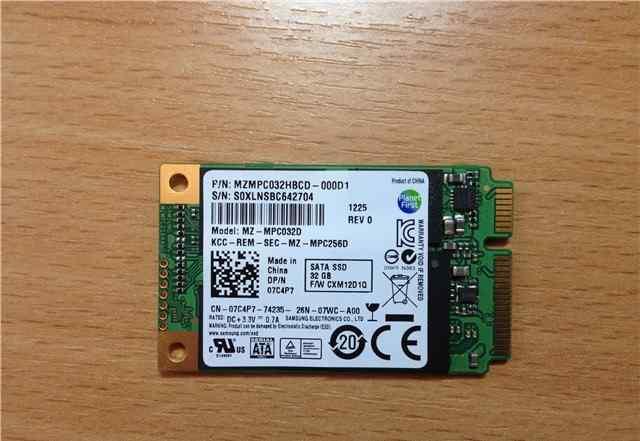 Ssd Samsung 32GB M-SATA Solid State Hard Drive