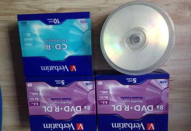 Verbatim 8x DVD+ R DL Double Layer 10шт + 5шт CD-R