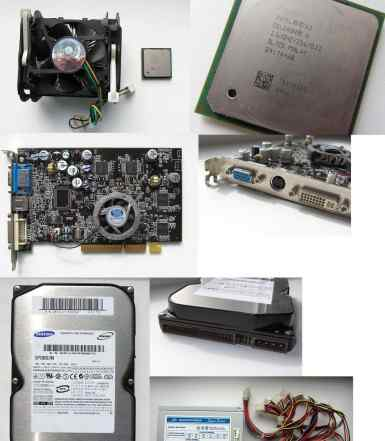 Процессор Intel Celeron 2.53 GHz Socket 478+ кулер