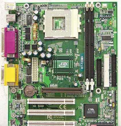 Материнская плата EpoX KT133+ (+ проц. AMD+ память