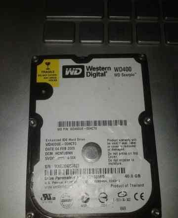 WDC Scrpio Blue WD400UE 5400 IDE 2.5 40GB