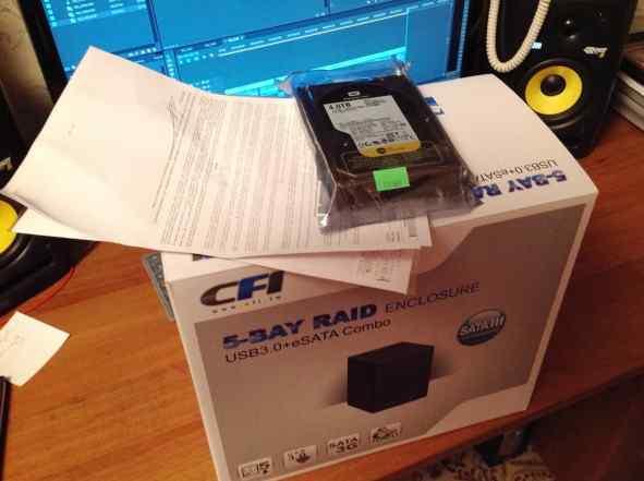 DAS-накопитель CFI + жесткий диск WD 4 Тб