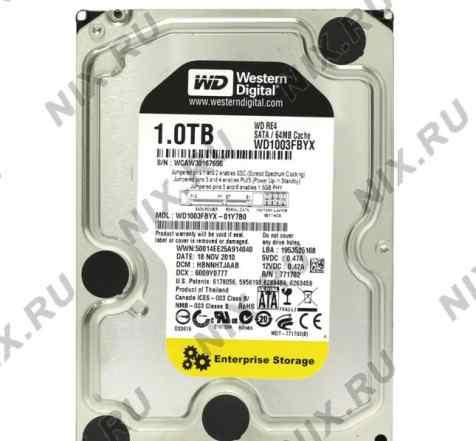 Новые HDD WD1003fbyx (серверный)