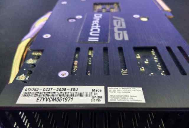 Asus GeForce GTX 760 DirectCU II TOP (GTX760-DC2T)