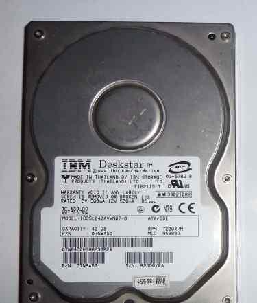 IBM DeskStar IC35L040avvn07-0