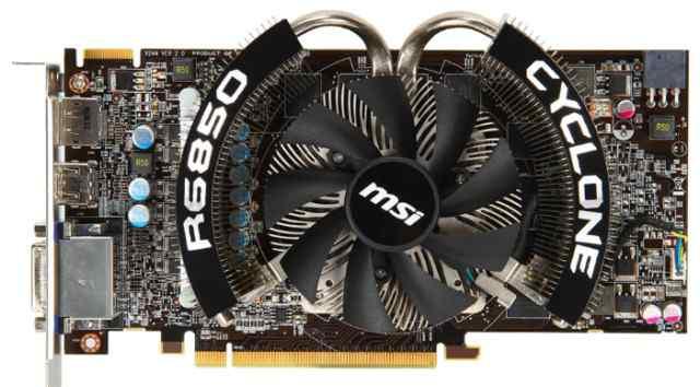 MSI Radeon HD 6850 860Mhz PCI-E 2.1 1024Mb 4400Mhz