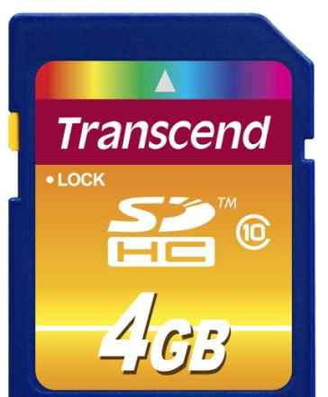 Карта флэш-памяти Transcend 4 Гб