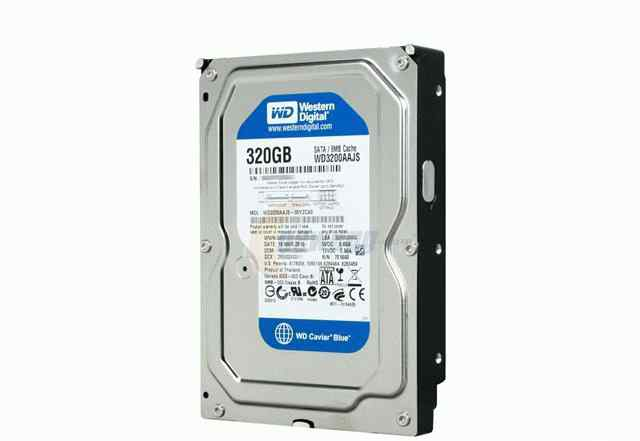 HDD 3.5 IDE PATA WD Caviar blue 320 GB почти новый