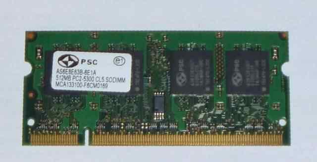 Память для ноутбука 512Mb PC2-5300 sodim