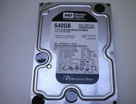 Western digital wd caviar black 640gb SATA (64mb)