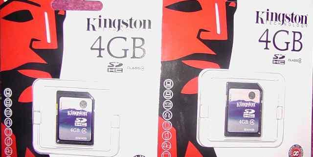 Карта памяти Kingston 4 gb