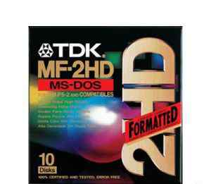 "10 дискет TDK MF-2HD, 3.5"", 1.44 мб"