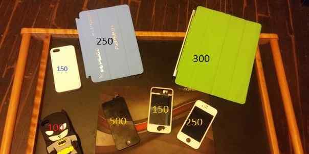 4 Чехла + Коврик + 3 стекла для iPhone