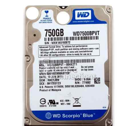 HDD 2.5 750 Gb Western Digital WD7500bpvt