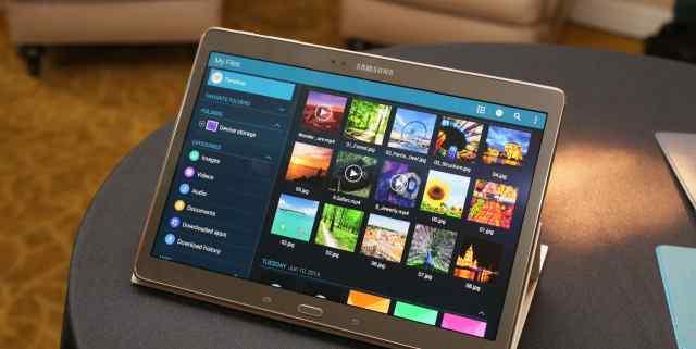 Планшет Samsung Galaxy Tab S, защитное стекло и