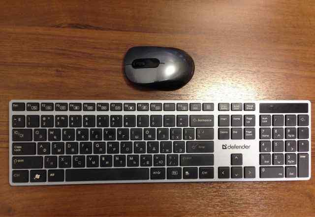 Беспроводные Клавиатура Defender + Мышь A4Tech