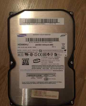 Жесткий диск Samsung HD080HJ 80 GB