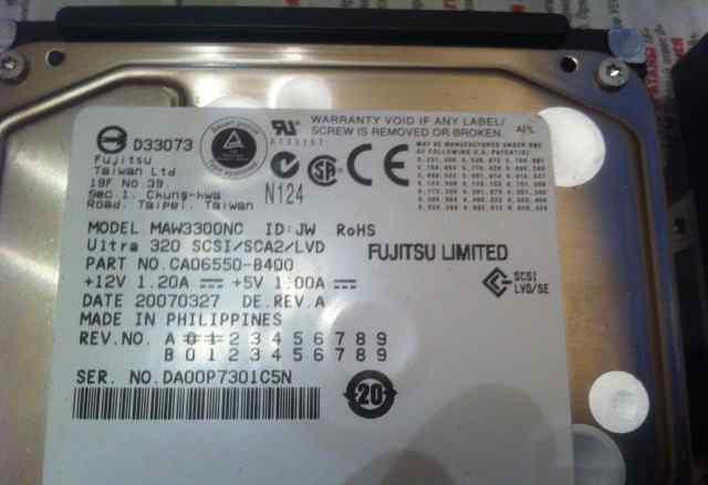 Жесткий диск Fujitsu MAW3300NC 300Gb