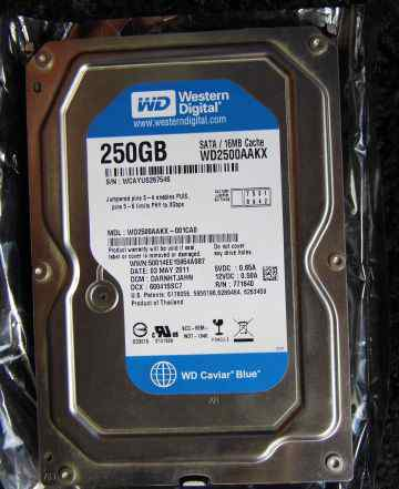 Жесткий диск Western Digital 250GB с Windows 7