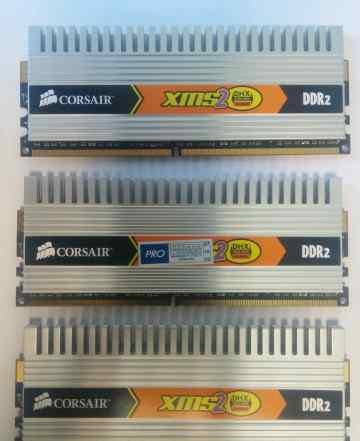 Corsair DDR2 3 плашки. каждая по 1 Gb