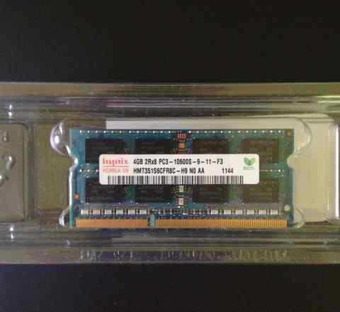 Память Hynix 4GB DDR3 sodimm 1333MHz для ноутбука