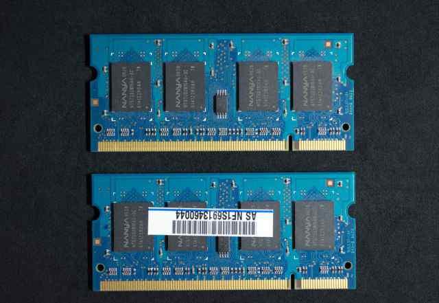 Nanya SO-dimm DDR2-667 (PC2-5300) 512 MB x 2