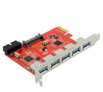 USB 3.0 для PCI-E контр. 5 портов + 19 pin usb 3.0