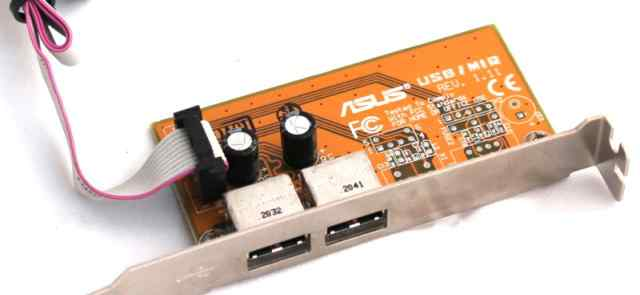 USB адаптор asus asus usb/mir rev 1.11 на 2 порта