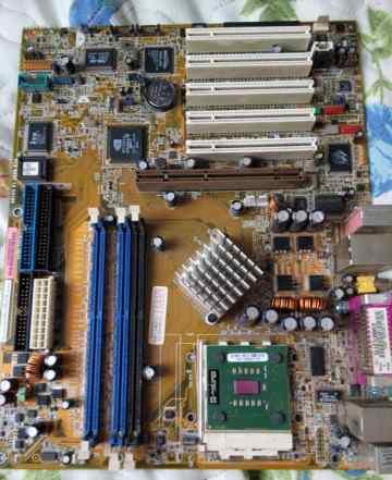 Asus A7NBX-E deluxe (socket 462) + процессор amd a