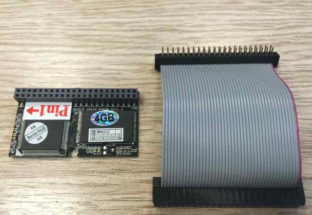 SSD DOM диск PATA IDE 44pin 4Gb + шлейф